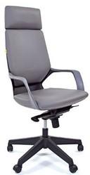 Кресло руководителя CHAIRMAN 230 black экокожа серая